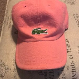 Lacoste pink hat
